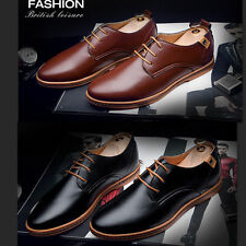 New Mens Oxfords Casual Leather Lace Up Wedding Formal Dress Shoes Big size KO68