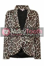 Womens Animal Print Blazer Coat Leopard Tiger Stylish Casual Suit Ladies Jacket