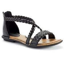 NEW Women's SONOMA SADIE Black Zipper Gladiator Casual Dress Sandals Shoes