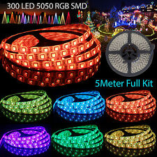 5M SMD 5050 RGB 300 LED 12V Waterproof Strip Light + 44 IR Remote Waterproof