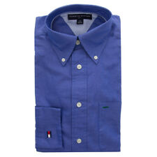 Tommy Hilfiger Men's Long Sleeve Blue Golf Dress Shirt Casual Classic Button-Up