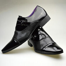 Mens New Black Brown Leather Smart Formal Buckle Shoes UK SIZE 6 7 8 9 10 11