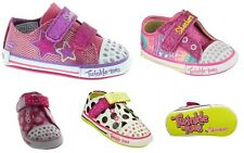 SKECHERS Twinkle Toes Baby Sparks Infant Girl's Fashion Sneaker Crib Shoes
