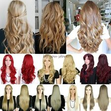 Long Curly Straight Full Hair Wigs Cosplay Party Fancy Dress Heat Resistant B43