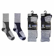 2 Pairs Mens Walking Socks Trekking Hiking Ski Work Boot Adults 7-11