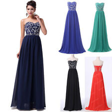 FREE SHIP❤ Empire Waist Chiffon Cocktail Evening Prom Party Dresses Ball Gowns