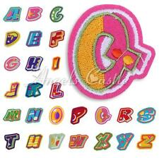 Letters A-Z Embroidered Applique Numbers Cloth Iron On Sew Patch DIY Accessory