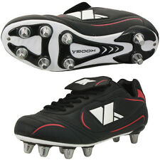 Mens Kooga Stealthy Rugby Boots -- Black/Red/White -