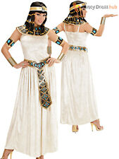 Ladies Egyptian Empress Costume Adults Cleopatra Fancy Dress Goddess Outfit