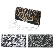 Premium Leopard Zebra Animal Print PU Leather Clutch Bag Handbag - Diff Colors