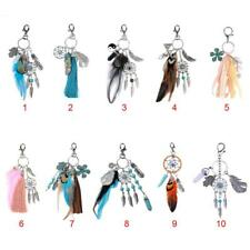 1pc Key Chain Ring Feather Tassels Dreamcatcher Charm Pendant Keyring Keychain
