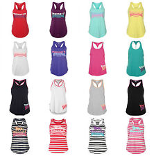 Lonsdale Ladies Womens Vest Gym Summer Running Sleeveless Top 8 10 12 14 16 18