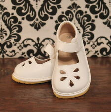 White Flower Punch Girls Mary Jane Squeaky Shoes, Sizes 3 4 5 6 7 8 9