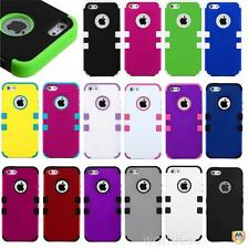 Apple iPhone Dual Layer Hybrid Hard Case Armor Impact Defender Skin Cover Tuff