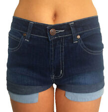 Stretch Denim Rolled / turned up Festival Jean shorts for Girls/Teens/Adults