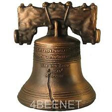 """2.5"""" inch high LIBERTY BELL authentic replica ANTIQUE BRONZE FINISH clapper NEW"""