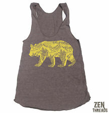 Womens CALIFORNIA BEAR Tri-Blend Tank american apparel