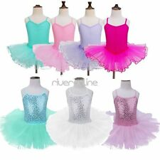 Girls Ballet Dancing Skirt Tutu Dress Dance Shows Ballerina Fancy Costume Outfit