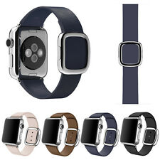 Modern Buckle Granada Genuine Leather Band Bracelet For Apple Watch 38MM S/L/M