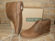 New Clarks Bushacre 2 Beeswax Light Brown Leather Chukka Boot/ $100