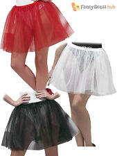 Ladies Longer Petticoat Fancy Dress Accessory Adults Underskirt Tutu Pettiskirt
