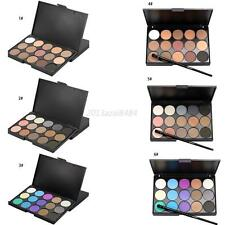 15 Colors Makeup Neutral Face Eye shadow Camouflage Concealer Palette W/ Brush