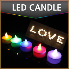 12/24pcs LED Tealight Flameless Flickering Tea Light Colorful Electronic Candles