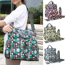 6Pcs Multifunctional Baby Diaper Messenger Shoulder Bag Mummy Bags Nappy Bag Set