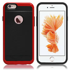 Red Hybrid Dual Layer Bumper Cover Protector Phone Case Apple iPhone 5/5S SE