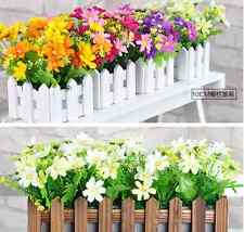 1 Bunch Artificial Fake Daisy Flower Bouquet Home Wedding Party Decoration