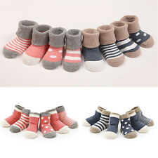 4 Pairs/set Soft Cotton HOT 0-3 Years Socks Lovely Baby Newborn Infant Kids