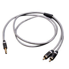 3.5mm Jack Plug to 2 RCA Stereo Jack Headphone Extension Cable Aux Audio Lead  B