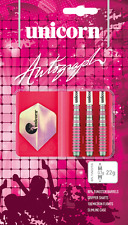UNICORN AUTOGRAPH PINK SLIM DARTS SET 80% TUNGSTEN LADIES DARTS 22G-28G