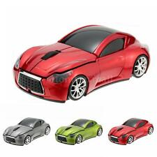 2.4GHz Racing Car Shaped Wireless Mouse Mice USB Optical 3D for PC Laptop V4O5