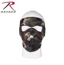 Rothco 2200 Reversible Stretch Fabric Neoprene Facemask Black/ Woodland Camo