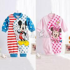 Minnie Mickey Baby Boy Girl One Piece Bodysuit Romper Casual Cute Outfit Clothes