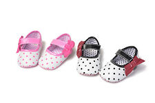 Infant Baby girls Mary jane soft fabric soles crib shoes Newborn to 18 months
