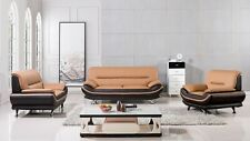 Modern leather sofa loveseat chair set couch ELM709