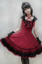 Ladies Sweet Princess Lace Ruffles Ball Gown Lolita Dress Cosplay Tailor Made