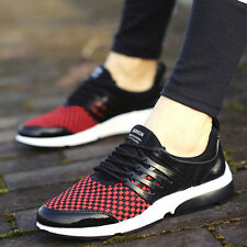 Men's Outdoor Plaid Sneakers Hiking Athletic Trainers Lace Up Flats Skate Shoes