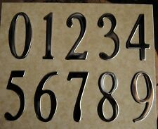"""SPECIAL LITE  SELF STICK 2"""" Stainless MAILBOX ADDRESS NUMBERS self-adhesive"""