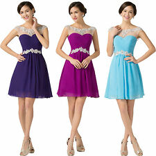 Short/Mini Beaded Prom Party Cocktail Dress Ballgown Bridesmaid Homecoming Dress