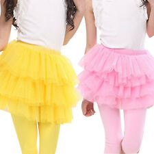 Kids Girls Mesh Clothing Tutu Layered Dress Pettiskirt Fairy Dancing Skirt 1-7Y