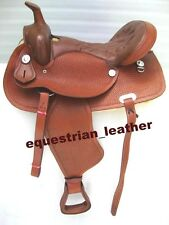 "NEW Western Leather saddle (Tan Colour) 15"",16"" &17"""