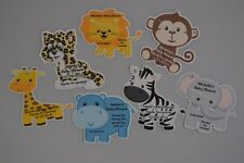 UNIQUE PERSONALIZED BABY SHOWER PARTY FAVOR JUNGLE ANIMALS BIRTHDAY GIFT TAGS