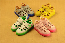 Children Kids Boys Girls Genuine Leather Casual Breathable Beach Sandals Shoes