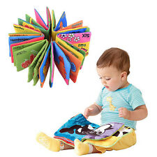 Baby Kids Cognize Book Intelligence Development Cloth Bed Early Educational Toy