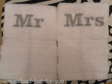 Personalised face cloths Mr & Mrs gift wrapped...Great wedding gift
