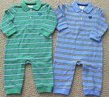 Chaps Ralph Lauren 3 6 MRomper Coverall Pants Polo L/S  FREE Ship NWT