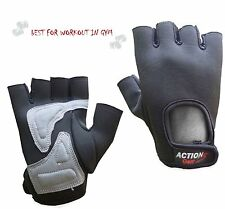 Fitness Weight Lifting Gym Workout Cycling Body Building Gel padded Palm Gloves